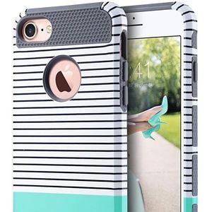 ULAK iPhone 7 Case, Mint/Grey